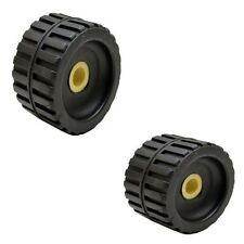 Craton RR50356 Black 5 Inch Rubber Boat Trailer Ribbed Wobble Roller (Pair)
