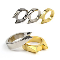 1pc EDC Self Defence Stainless Steel Ring Finger Defense Ring Emergency Tool
