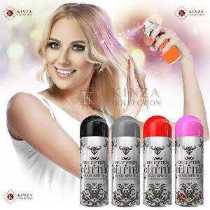 4 x Glitter Temporary Hair Colour Spray Washable Party Xmas Fun Halloween 200ml