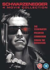 TERMINATOR PREDATOR COMMANDO CONAN THE BARBARIAN SCHWARZENEGGER 4 DISC DVD L NEW