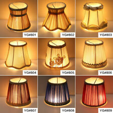 Pleat Lamp Shade Clip on E14 Bulb Table Light Lampshade Wall Lamp Covers