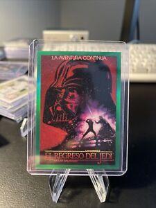 2021 Topps Chrome Star Wars Galaxy Green Global Poster Card Spain /99 GP-15