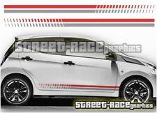 Peugeot 107 & 108 003 side racing stripes graphics stickers decals vinyl