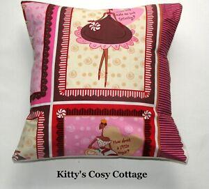 "16""  Shabby Chic' Pink Divas Cushion cover"