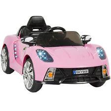 BCP 12V Kids Remote Control Ride-On Car w/ Lights, MP3, AUX - Black