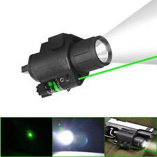 Tactical Flashlight Green Laser Sight CREE Led For Rifle Pistol Glock 17 19 Rail