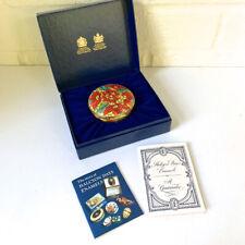 "Halcyon Days / Tiffany & Co. Poinsettia Music Box ""Jingle Bells"" Mint Condition"