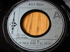 "BILLY OCEAN - STOP ME, IF YOU'VE HEARD IT ALL BEFORE    7"" VINYL"