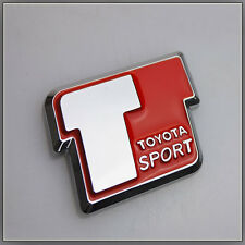 T Sport Car Badge Logo Sticker Toyota Yaris VVTi Celica MR2 Corolla Rear Boot