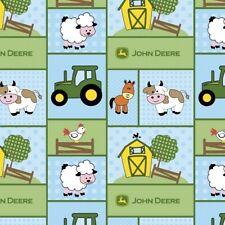 Springs John Deere Barn Yard Nursery 46794 Sampler BTY Cotton Fabric
