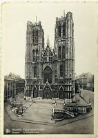 RPPC Brussels Belgium Saint Gudula Church Cathedral French Real Photo Postcard