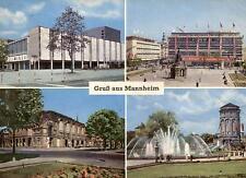 Mannheim  -  National-Theater - Paradeplatz - Rosengarten - Wasserturm  -  1962