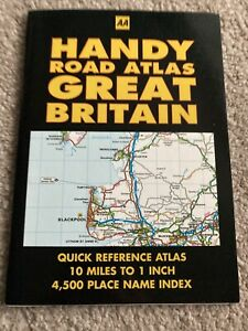 Exc cond vintage AA Handy Road Atlas Great Britain 10 miles to 1 inch