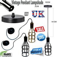 Metal Bulb Guard Lamp Light Cage Pendant Hanging Industrial Vintage UK Stock