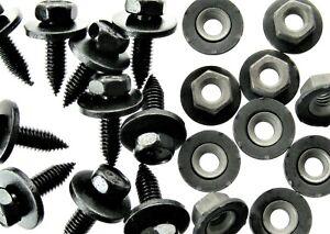 Toyota Body Bolts & Barbed Nuts- M6-1.0 x 20mm- 10mm Hex- 40 pcs (20ea)- #124F