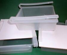 3 Shelf Slider Platzwunder-Aufbewahrungsboxen aus Kunststoff transparent NEU