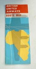More details for vintage 1960s bua british united airways route map britannia & viscount