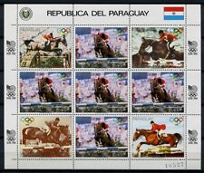 Paraguay 1988 Olympiade Olympics Seoul Reiter Pferd 4200 Kleinbogen MNH