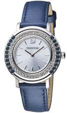 Swarovski Playful Lady Blue Clear Crystals Blue Leather Watch 5243038