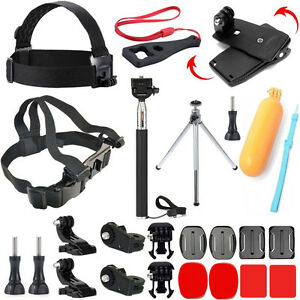 Selfie Stick Clip Chest Mount Action Cam Essentials Accessories Kit for Sony Cam