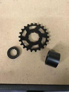 """Aluminium Single Speed Cog Sprocket 22T 3/32"""" Black Shimano HG Spline Cassette"""