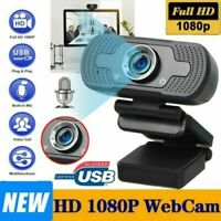 HD 1080p Webcam Camera with Mic Desktop Laptop PC Vodeo Living Recording Web-Cam