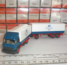 WIKING SEMI-REMORQUE 27 474 CAMION TRAILER IVECO MAGIRUS ECHELLE 1:87 HO NEW OVP