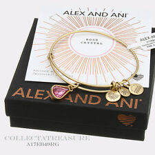 Authentic Alex and Ani Teardrop October Birthstone Rafaelian Gold Bangle