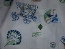 "NWT Tommy Bahama 3XL 3x Shirt 56"" Hawaiian green Fan Floral Cotton"