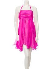 Alice + Olivia Pink Silk Babydoll Dress XS