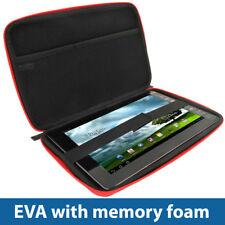 """ROSSO EVA viaggio Hard Case COVER SACCHETTO per Vari Asus Transformer 10.1 """"Tablet"""