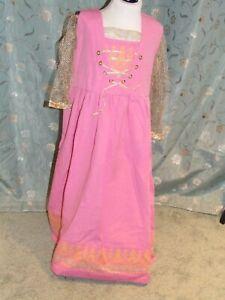 PINK & GOLD MEDIEVAL TYPE DRESS - age 7 - SVAVA - BNWOT - (AT463)