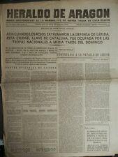PERIÓDICO GUERRA CIVIL 5 ABRIL 1938 TOMAN LÉRIDA, MORA DE EBRO, BROTO, ASCÓ,FLIX