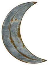 "NEW RUSTY GALVANIZED MOON 12"" Metal Tin  Primitive Crescent Outhouse Wall Decor"