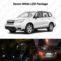 10x White LED Interior Bulbs + License Plate Light For 1998-2017 Subaru Forester