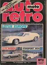 AUTO RETRO 76 DOSSIER GHIA LOTUS EUROPE ALFA SPIDER DODGE FIREARROW PAUL BRACQ