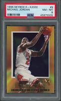 1996-97 Skybox E X 2000 Michael Jordan #9 Bulls Card - PSA 8 (45875505)