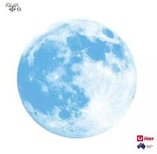 Fluorescent Light Blue Moon Wall Sticker Removable Glow In The Dark Sticker 5cm