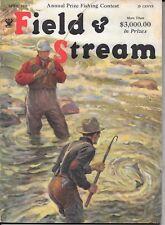 Field & Stream magazine April 1935 Art Fuller Cover  fishing  hunting