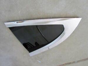 Tesla Model X Left Quarter Panel Glass Rear Window Tinted OEM w Chrome Molding