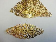 Base per spilla filigrana color oro - fermaglio 8x3,5 cm 1 pezzo - BIJOUX