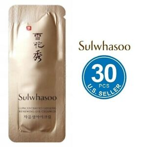 Sulwhasoo concentrated ginseng renewing eye cream EX 1mlx30pcs(30ml) US Seller