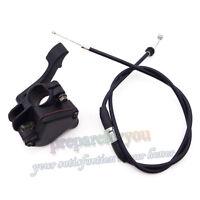 Thumb Throttle Control Housing Cable For 50 70 90 110 125cc ATV Quad Kazuma Sunl