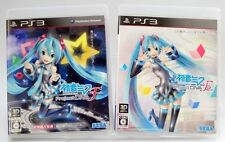 PS3 HATSUNE MIKU Project DIVA F1 F2 2 SET SEGA JAPANESE IMPORT