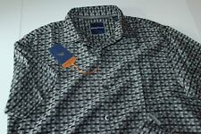 Tommy Bahama Camp Shirt Check Is In The Sails Black Silk T317620 New Medium M