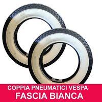 2 Pneumatici Gomme 3.50-10 A Fascia Bianca Ruota Piaggio VESPA PX 125 150 200