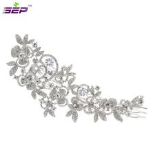 Big Rhinestone Crystals Bride Wedding Hair Comb Accessories Jewelry FA5027