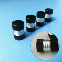 4X Car Tire Tyre Rim Wheel Air Valve Stem Dust Caps Cover Trim Accessories Black
