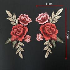 2 x Ecusson Patch Rose Fleur écusson Thermocollant Chapeau SAC Applique