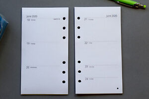 2021 - 2022 Refills Week to view | Personal Size | Fits Filofax START ANY MONTH!